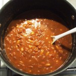 A Pot of Freshly made Baked Beans