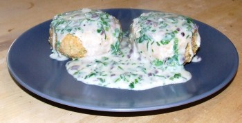 DSCF7646 350x179 Recipe: Fish cakes with parsley sauce
