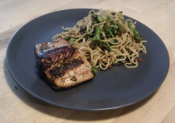 IMAG0061 350x247 Recipe: Oriental Sea Trout with Noodles